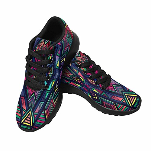 InterestPrint Womens Jogging Running Sneaker Lightweight Go Easy Walking Comfort Sports Running Shoes Abstract Ethnic Creative Backdrops Aztec Style Multi 1 RWRm3TEBVZ