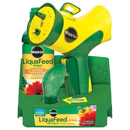 General Purpose Fertilizer - Miracle-Gro LiquaFeed Advance Starter Kit with Garden Feeder, 16 oz. Bottle of LiquaFeed All Purpose Liquid Plant Food, and Dosing Spoon