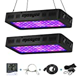 600W LED Grow Light, Missyee 2-Pack Full Spectrum Plant Light with UV/IR, Thermometer