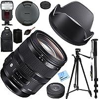 Sigma 24-70mm F2.8 DG OS HSM Art Lens for Nikon Mount (576-955) with USB Dock, Kodak Flash, And Deluxe Case Plus Accessories Bundle