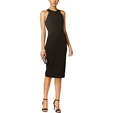 ef6b72e7ea Image Unavailable. Image not available for. Color  Ivanka Trump Womens  Sheath Scuba Cocktail Dress ...