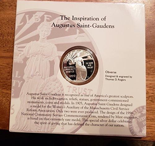 (1996 S U.S. Mint Community Service $1 Commemorative Silver Proof Coin $1 Brilliant Uncirculated US Mint )