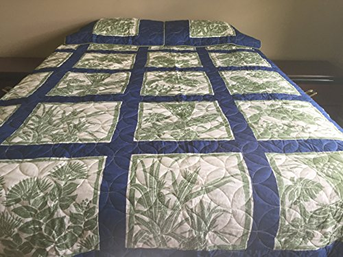 King Hawaiian Quilt bedding Comforter 100% cotton patchwork with two pillow shams by Kauhale Living