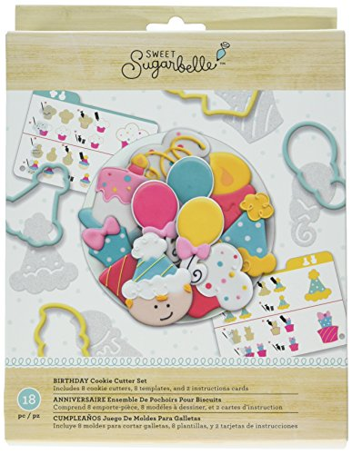 American Crafts AMC Sugarbelle Birthday Cookie Cutter Kit ()