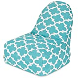 Majestic Home Goods Trellis Kick-It Chair, Teal For Sale