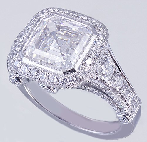 18k Asscher Ring - 4