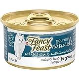 Purina Fancy Feast Gourmet Naturals Grain Free Tuna Recipe in Gravy Adult Wet Cat Food - (12) 3 oz. Cans