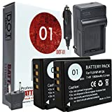 DOT-01 2X Brand 1800 mAh Replacement Fujifilm NP-W126 Batteries and Charger for Fujifilm X-T10 Compact System Digital Camera and Fujifilm NPW126