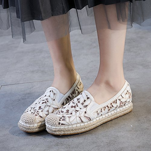 de de LFEU Mujer Blanco Sintético Material Zapatillas Running FSFwptq