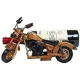 Bwlzsp 1 PCS motorcycle wooden red wine rack pendant solid wood wine bottle rack vintage artisans personality wine rack LU716613