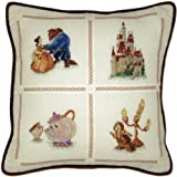 "Beauty and the Beast Pillow, Counted Cross Stitch Kit by Thomas Kinkade, Disney Dreams Collection.  MCG Textiles  Finished size 14"" x 14"""