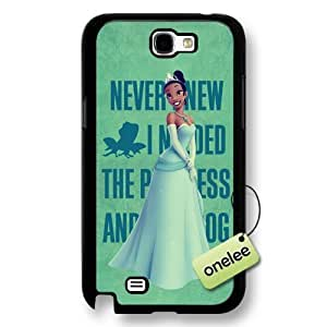 Disney Cartoon Princess and the frog Frosted Phone Case For Samsung Glass S4 Cover - Disney Princess Tiana For Samsung Glass S4 Cover - Black