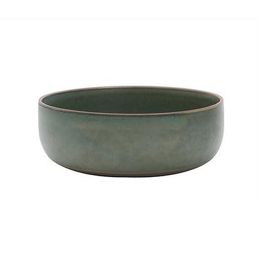 GUOYUN disco cerámica Vajilla Esmalte de color Circular Blanco + ...