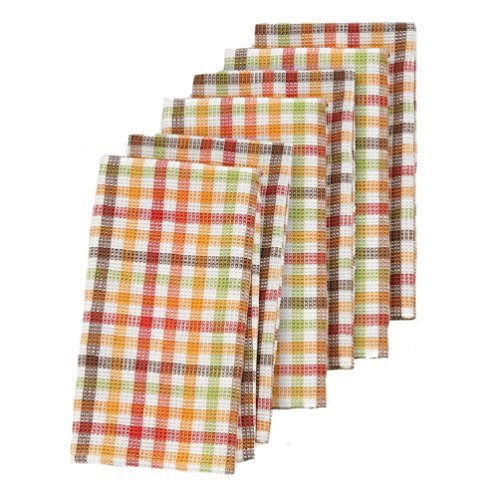 The Big One Harvest Plaid Woven 6-pk. Kitchen Towels