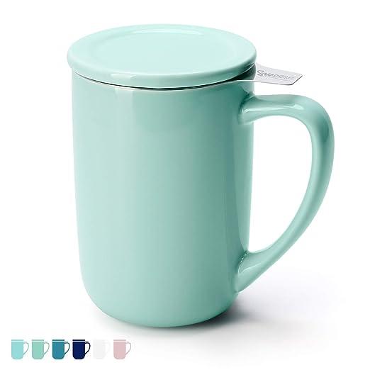 Sweese - Taza de té con infusor, 500 ml, con tapa e infusor ...