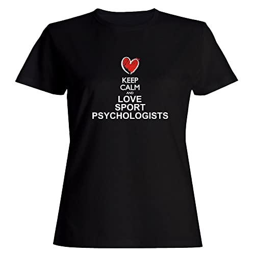 Idakoos Keep calm and love Sport Psychologists chalk style Maglietta donna