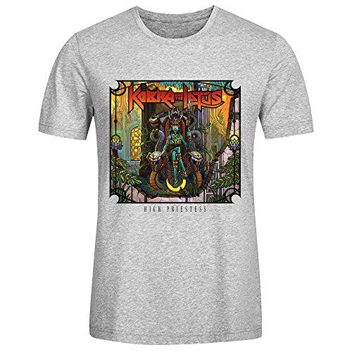Kobra And The Lotus High Priestess T Shirts For Men Grey