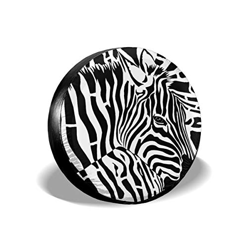 All agree Wheel Tire Covers Distortion Abstract Art Zebra Waterproof UV Sun RV Trailer Tire Protectors, Fit Truck Camper Trailer Van Auto Car Vehicle 15 inch