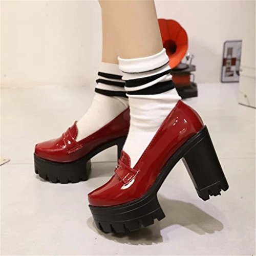 Las Mujeres De Las Mujeres Lolita Low Top Estudiantes Japoneses Vestido De Uniforme De Limpieza Zapatos Oxford Zapatos Red
