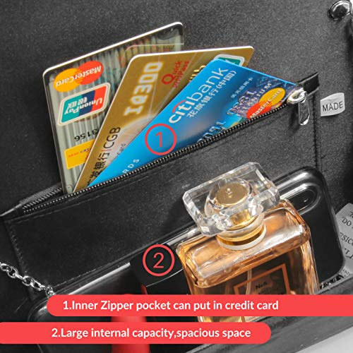 Milisente Clutch Purses for Women Velvet Envelope Evening Bags Classic Shoulder Clutch Purse (Black) by Milisente (Image #5)