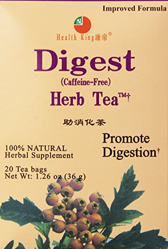 - Health King Digest Herb Tea, Teabags, 20 Count Box