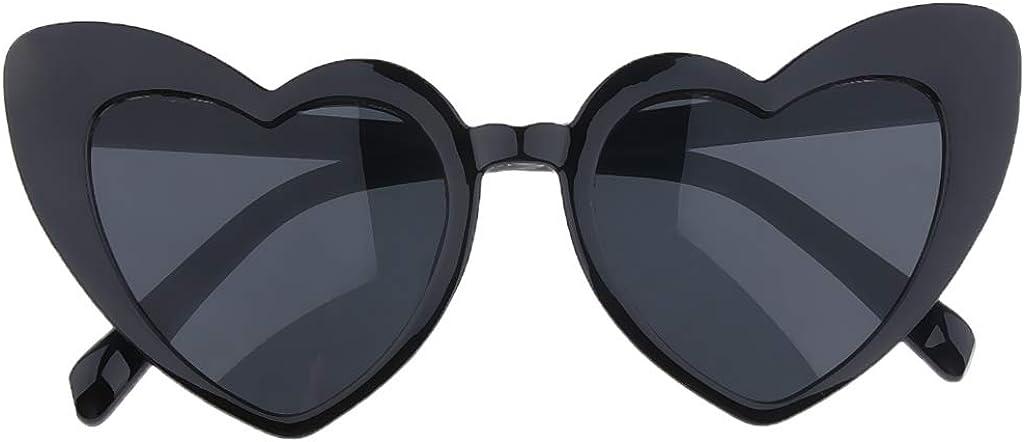 Baoblaze Herz Sonnenbrille D/ünne Sch/öne Herzbrille f/ür Damen