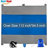 (5 Days Shipment) Large Outdoor Beach Blanket Mat - Multi-use Compact Sandproof & Waterproof Picnic Blanket Extra Large 9' x 10', 100% Ripstop Nylon Made, 4 Anchor Loops, Stakes & Ropes, 5 Pockets