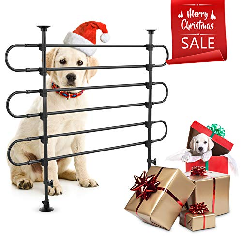 r for SUV Cars Heavy Duty Pet Barrier for Large Dogs, Adjustable Black Car Pet Barrier for Cargo Area, Rubber, Plastic and Metal ()