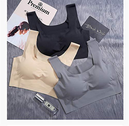 Para Black Tiras Costuras Sin Yoga Con De Bianjesus Ser Al Interior Ligero Deporte Cómodo Libre Gimnasio Dama Mujer Aire Sujetador HqwCC4
