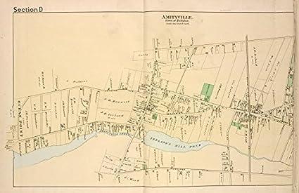 Amazon.com: Historic 1888 Map | Amityville. [Village] | New York ...