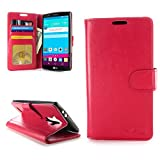 CoverON® for LG G4 Wallet Case [CarryAll Executive Series] High Quality Synthetic Leather Flip Credit Card Phone Cover Pouch - (Red)