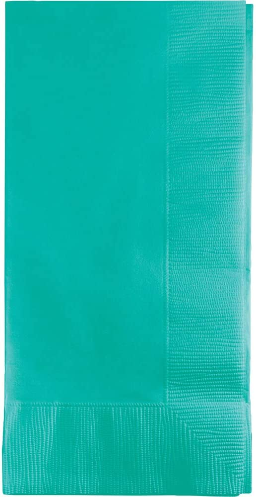 Creative Converting 50 gorgeous Teal lagoon Dinner Napkins for Wedding, Party, Bridal or Baby Shower, Disposable Bulk Supply Quality