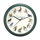 "Mark Feldstein & Associates Audubon Singing Bird Clock, 8"""