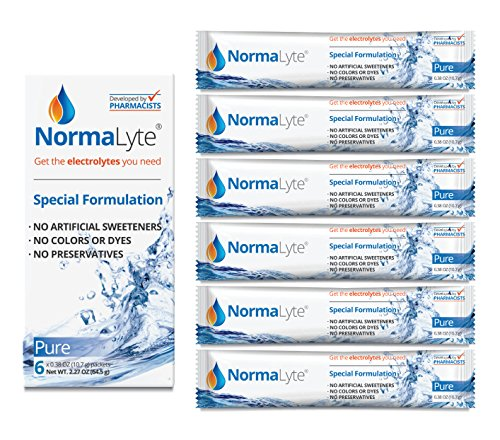 (NormaLyte Oral Rehydration Salts, Pure, 6 Pk (Yields 500mL per pack))