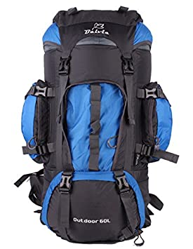 Belvie 60l Hiking Camping Backpack BV601 (Blue) / Sports