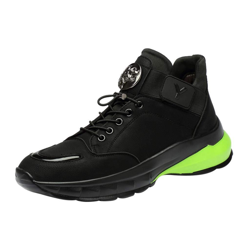 CUTUDE Laufschuhe Warme Schuhe Herren Turnschuhe Freizeitschuhe Sport Straßenlaufschuhe Leder Sneaker Atmungsaktiv Trainer Running Fitness Gym Outdoor