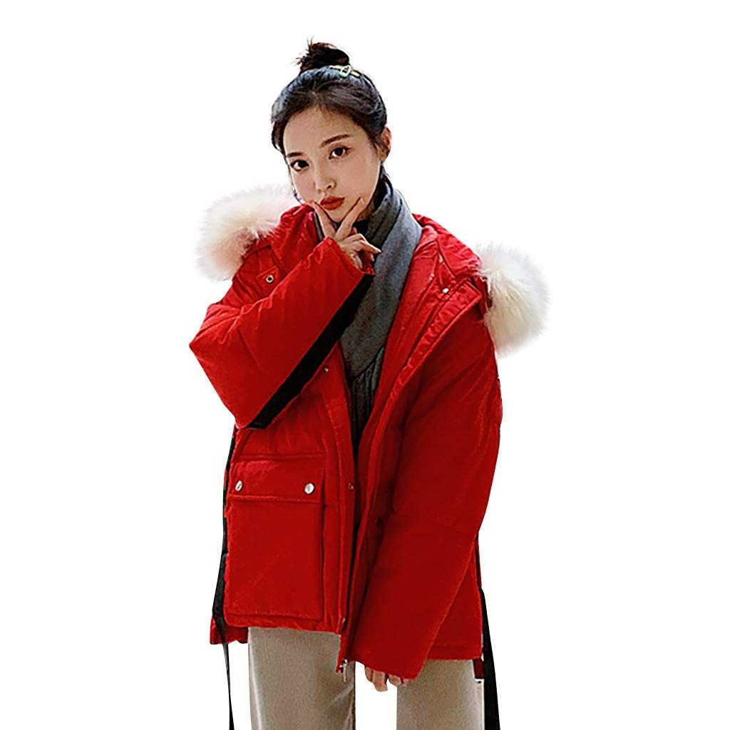 TIFENNY Fashion Cotton-Padded Pockets Coats Winter Thicken Outerwear Tops Long Sleeve Hooded Jackets Solid Color by TIFENNY_Shirts
