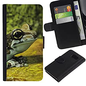 All Phone Most Case / Oferta Especial Cáscara Funda de cuero Monedero Cubierta de proteccion Caso / Wallet Case for Sony Xperia Z3 Compact // Frog Yellow Nature Forest