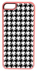 ipod touch4 Case, CellPowerCasesTM Black Houndstooth Pink Case for ipod touch4 [Flex Series] [ V3 Pink Case]