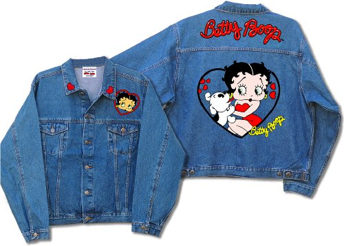Licensed Betty Boop and Pudgy Denim Jacket DJ-9023 (XLarge)