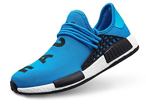TooBY Men's Running Shoes Women's Free Transform Flyknit Fashion Sneakers,Blue,47 EU=12.5US-Men/13US-Women