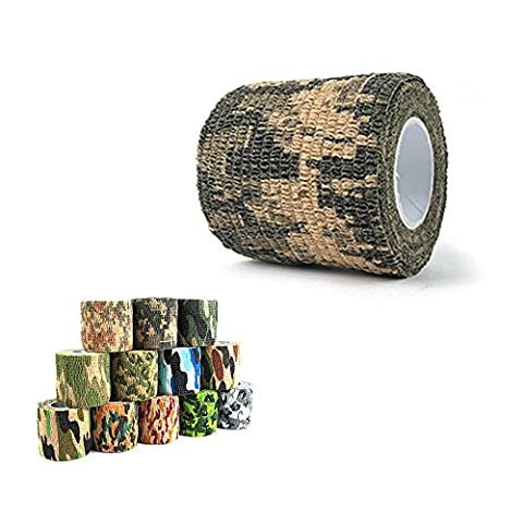 Shellvcase Self-adhesive Non-woven Outdoor Camouflage Multi Use Reusable Fabric Wrap,Rifle Hunting Cycling Tape Waterproof Camo Stealth Tape (ACU - Bow Tape