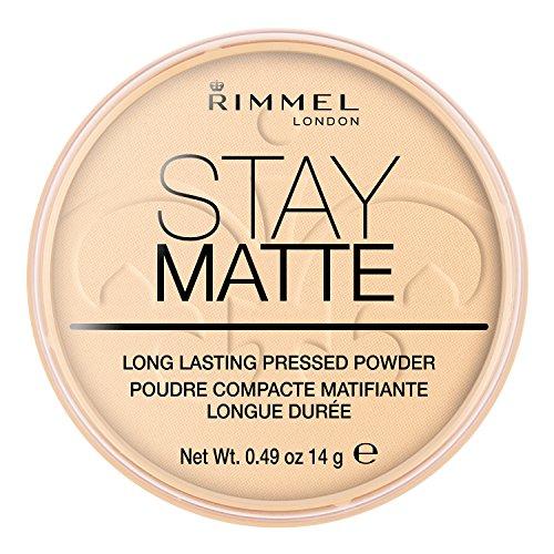 Rimmel London Stay Matte Pressed Powder, 001 Transparent, 14 g