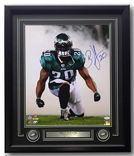 1bd727bf Brian Dawkins Signed Framed Philadelphia Eagles 16x20 Smoke Photo JSA