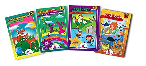 Activity Books For Kids Age 3 + Pack Of 4 Preschool Activity