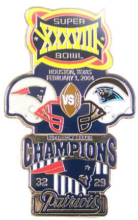 a9b48c3adec Image Unavailable. Image not available for. Color: Super Bowl XXXVIII  Oversized Commemorative Pin