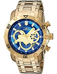 Invicta Mens Pro Diver Quartz and Stainless Steel Casual Watch, Color:Gold-Toned (Model: 22765)