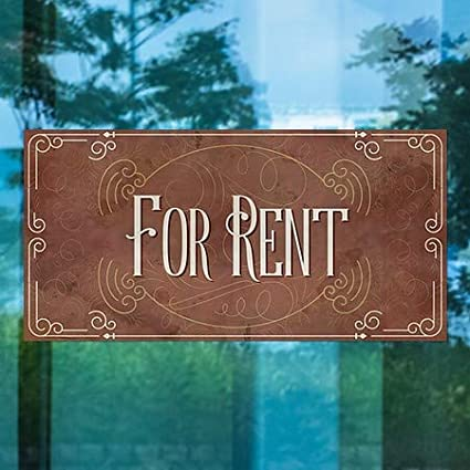 for Rent Victorian Card Window Cling 24x12 5-Pack CGSignLab