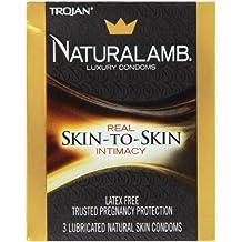 Trojan Naturalamb Condom Lubricated Natural Skin 3 Pc - 2 pack