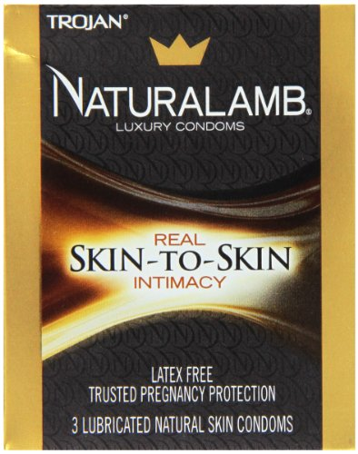 Trojan Naturalamb Condom Lubricated Natural Skin 3 Pc - 2 Pack (Trojan Naturalamb Condoms)